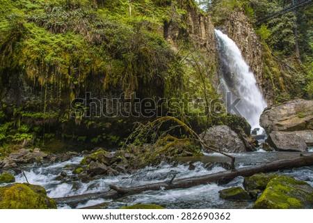 Drift Creek Falls Oregon - stock photo