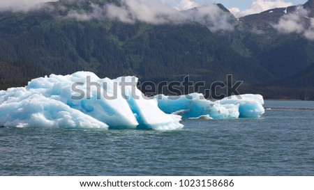 Drift ice in the Shoup Bay State Marine Park in Alaska