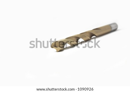 Drill Bit on a White Background - stock photo