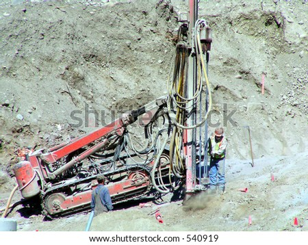 Drill Rig for Blasting - stock photo