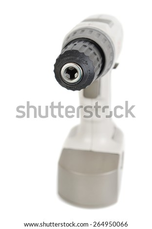 Drill screw gun isolated on the white background - stock photo