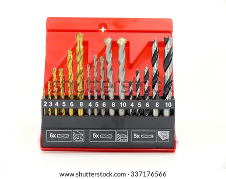 drill set on white background