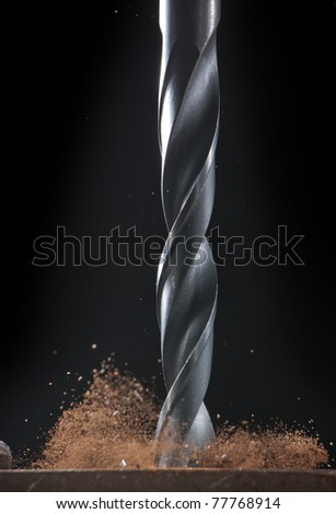 drilling into metal - stock photo