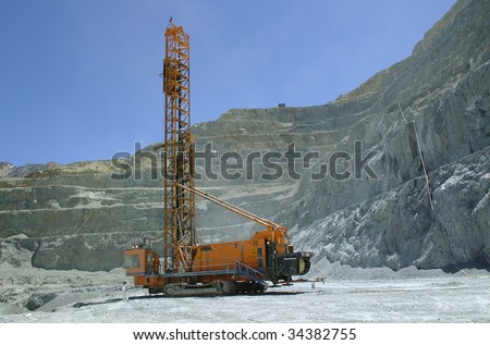 drilling machine operates in the mineral exploration