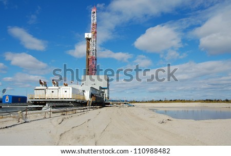 Drilling Rig - stock photo