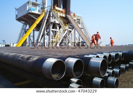 Drilling rig in china - stock photo