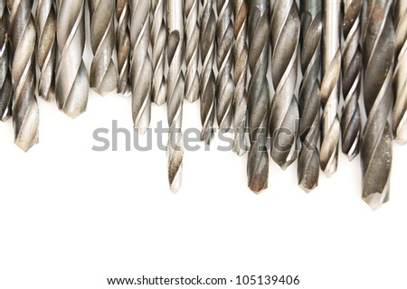 Drills. On a white background. - stock photo
