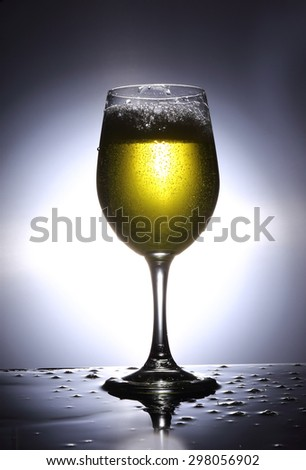Drink Beer Glass Bubble - stock photo