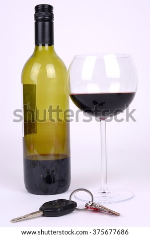 Drink Driving Concept - stock photo
