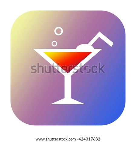 Drink icon - stock photo