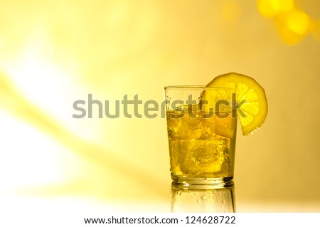 Drink in summer light - stock photo
