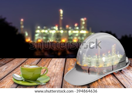 Drinking coffee during a break from work. - stock photo
