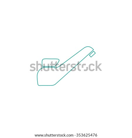 Drinking faucet. Outline symbol on white background. Simple line icon - stock photo