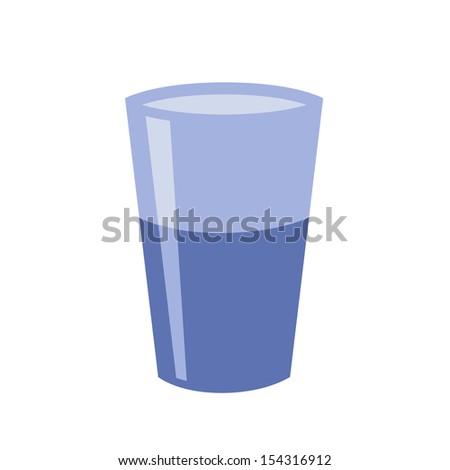 Drinking Glass Icon.  Raster version - stock photo