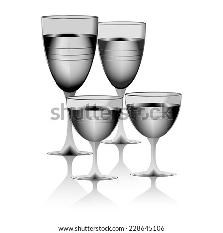 drinking glass transparent glass on white background raster - stock photo