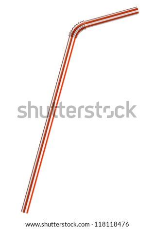 Drinking straw - stock photo