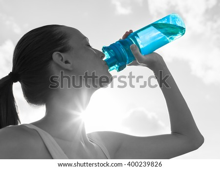 Drinking water concept. - stock photo