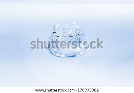 Drinking water splash isolated on clear white background