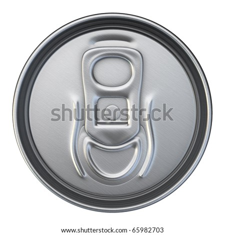Drinks Can Cup (isolated on white and clipping path) - stock photo