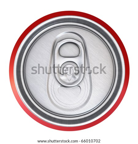 drinks cans (clipping path) - stock photo