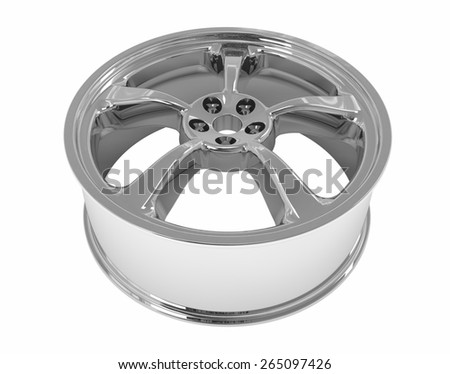 drive wheels metal, without a shadow, isolated on white background