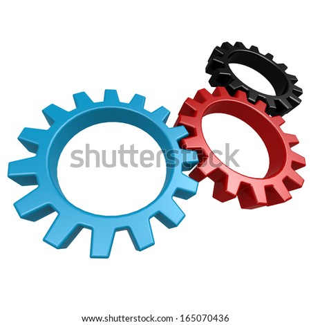 Driven gear - stock photo