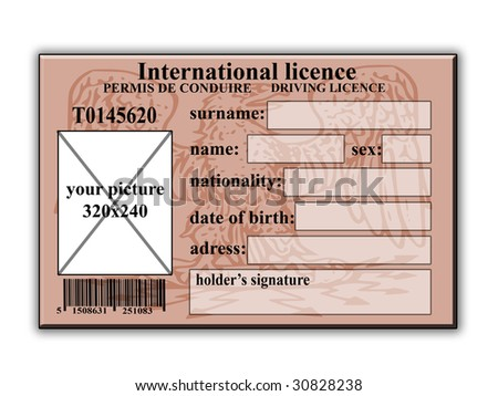 Driver licence - stock photo