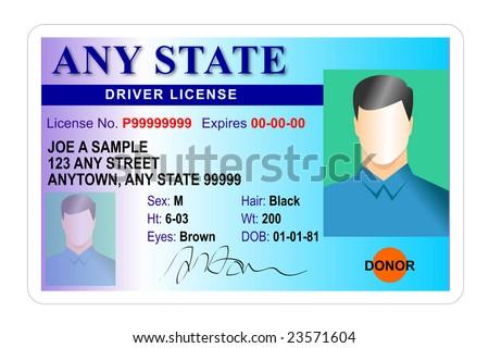 Driver license Identification card - stock photo