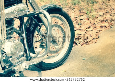 Driver riding motorcycle on the road - stock photo