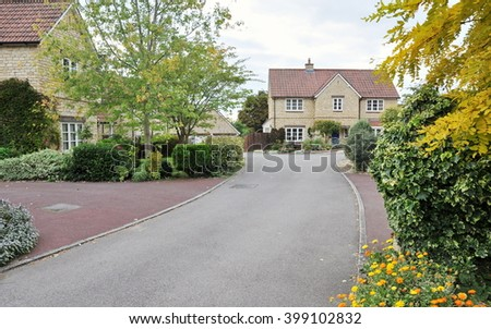 Driveway on a Beautiful English Residential Estate