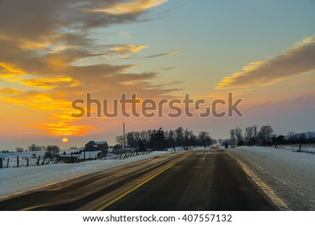 Driving an Icy Winter Roadway
