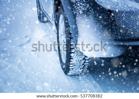 Driving in Winter - Car's Winter tyres in extreme cold temperature and snowfall