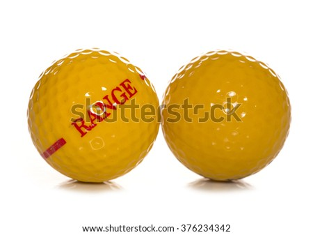 driving range golf ball studio cutout