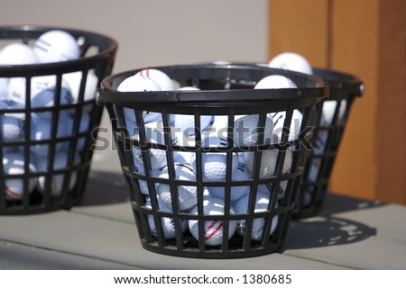 Driving Range Golf Balls - stock photo