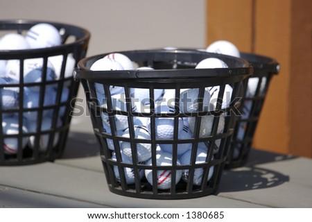 Driving Range Golf Balls - stock photo