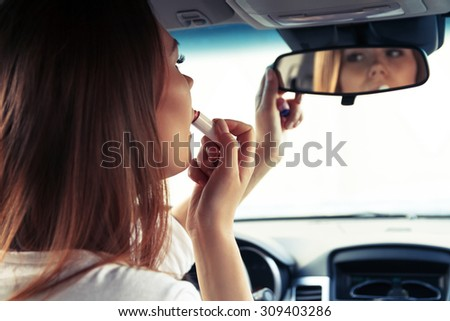 Driving safety concept - stock photo