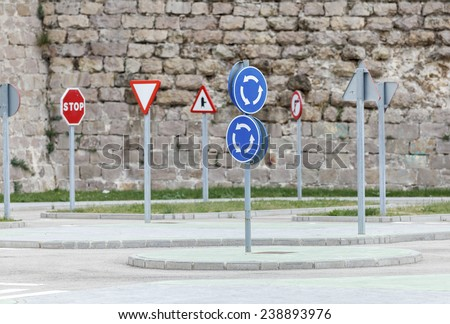 driving school track / Driving License  - stock photo