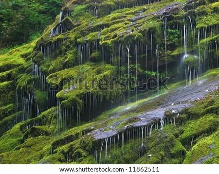 Drizzling Waterfall - stock photo