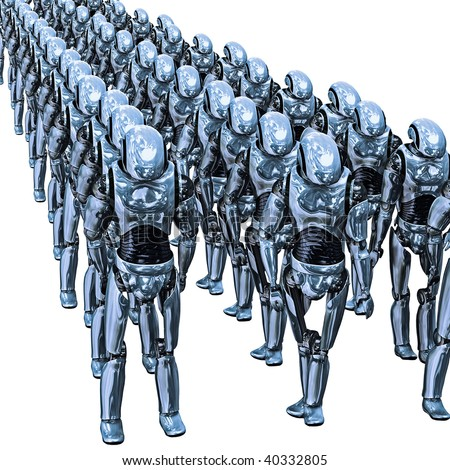 Droid Army - stock photo