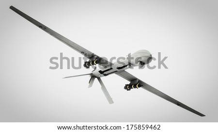 Drone, clipping path included - stock photo