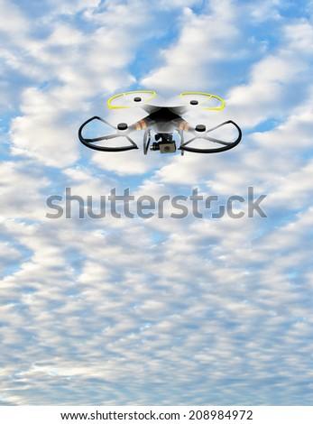 DRONE ILLUSTRATION - stock photo