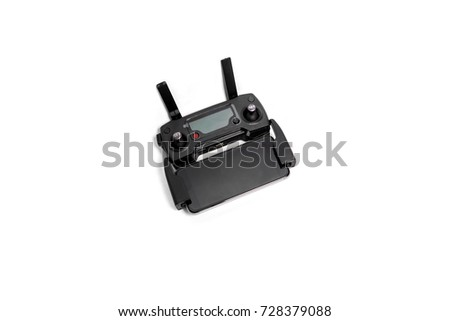 Drone Remote Control With Screen Isolated On White Background