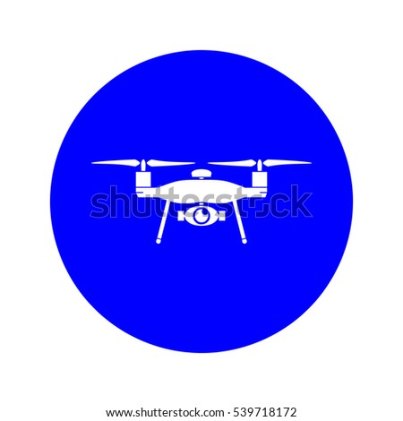 Drone zone traffic sign over white background, illustration