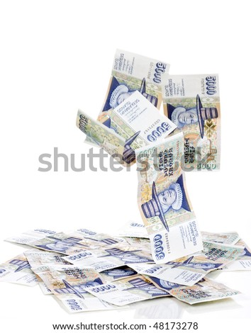 Drop money - stock photo