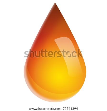 drop of oil - stock photo
