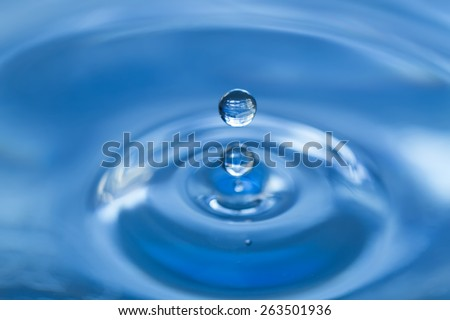 Drop of water - stock photo