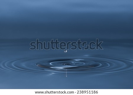 drop of water liquid with splash isolated