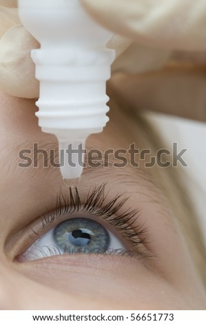 Droplet of medicine - stock photo