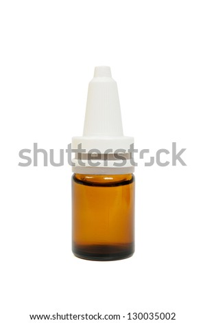 Dropper isolated on white background - stock photo