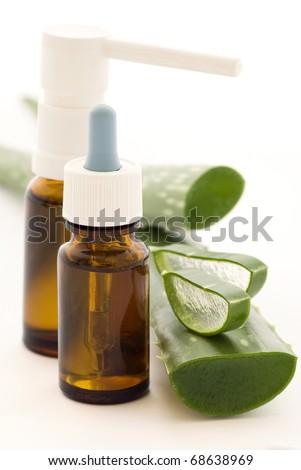 Drops and Spray with Aloe - stock photo